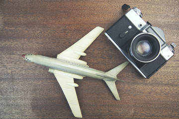 plane and camera