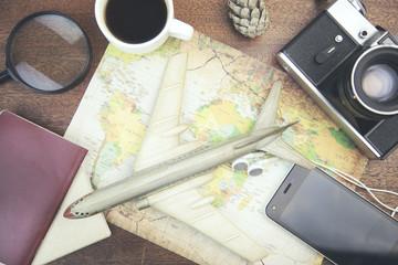 Preparing for travel concept