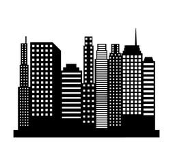 cityscape buildings silhouette icon