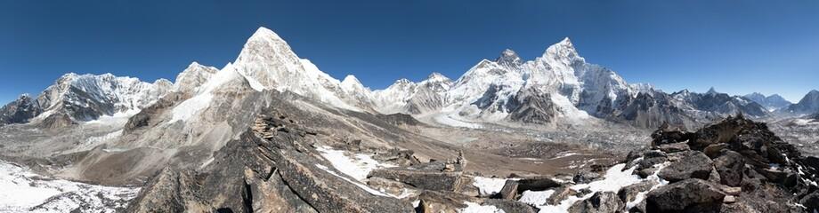 Mount Everest, Lhotse, Nuptse, Pumo Ri and Kala Patthar