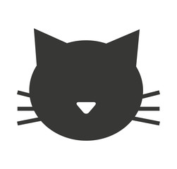 cat mascot pet silhouette icon