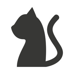 cat mascot pet silhouette icon