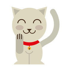cat luck culture asian icon