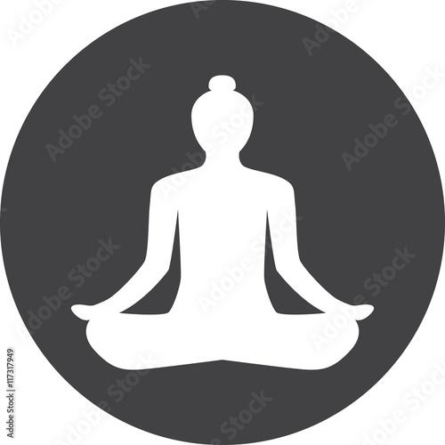Buddhism Mediation Faith Belief Yoga Relaxation Sign Symbol Icon