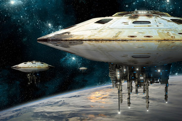 Wall Mural - mothership001h - Elements of this image furnished by NASA.