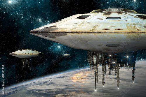 Wall mural mothership001h - Elements of this image furnished by NASA.