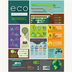 Eco graphic vector - ecology info graphic