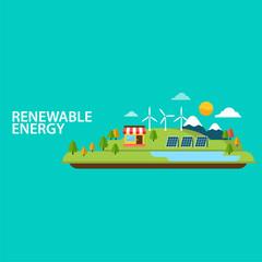 renewable energy Eco vector