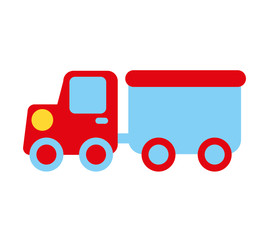 construction car toy kids icon