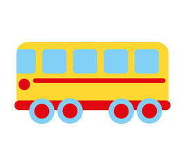 bus school toy icon