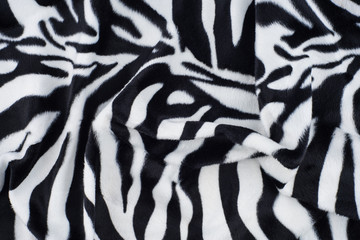 Zebra texture with beige white and black.