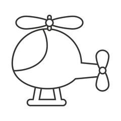 helicopter toy isolated icon