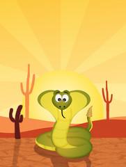 cobra in the desert