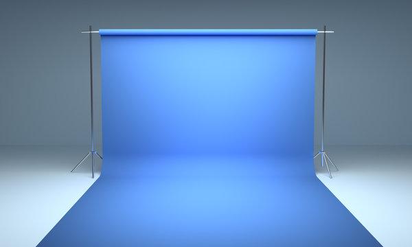 Empty photography studio background  template 3d render