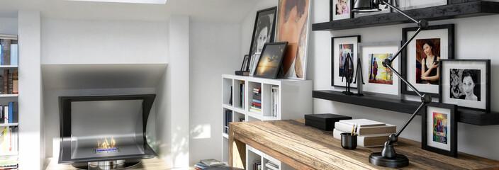 Am Schreibtisch (Panorama)