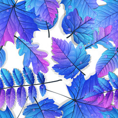 Detailed leaves seamless background. EPS 10