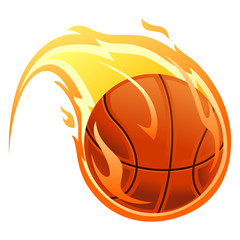 Vector Illustration of Ball on fire