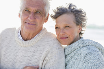 Close-up of an old couple