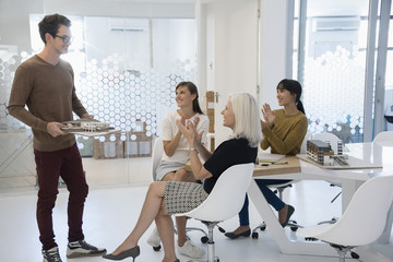 Design professionals working in an office