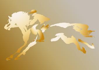 Иконка всадника на коне.