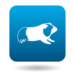 Guinea pig icon in simple style isolated on white background
