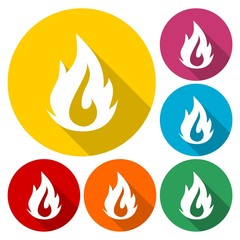 Flame icon color set