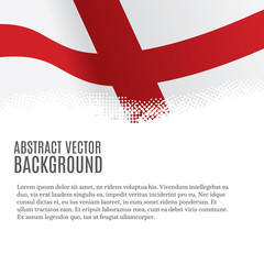 Vector background with flag of England and copy space