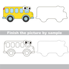 Bus. Drawing worksheet.