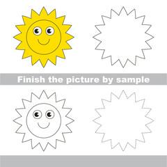 Sun. Drawing worksheet.