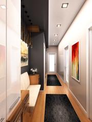 3D Render of designed home interior