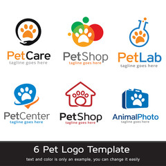 Pet Logo Template Design Vector