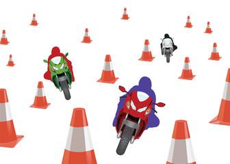 percorso ad ostacoli motociclismo