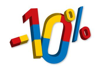 -10% - Soldes - Promo