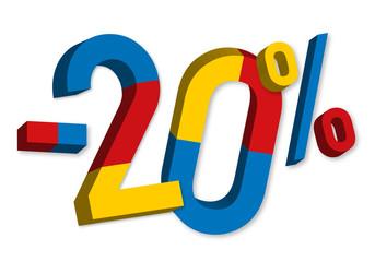 -20% - Soldes - Promo