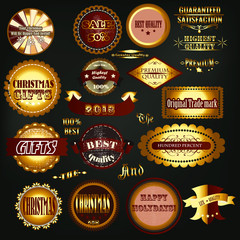 Collection of vector vintage labels