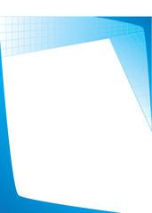 Professional Blueprint Grid Letterhead Template