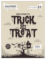 brown halloween poster