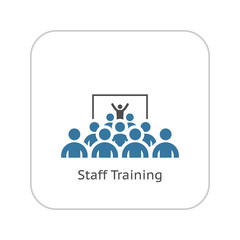 Training Icon. Flat Design.