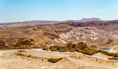 View on ruins of Masada fortress - Judaean Desert, Israel