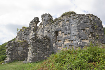 The ruins of the Bzyb temple built in the IX-X century in Abkhazia