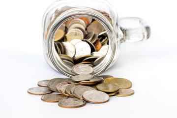 Money Saving concept , jars system