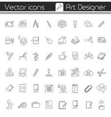 The art designer, Vector icons.
