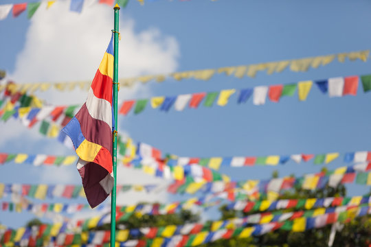 Buddhist religious flag