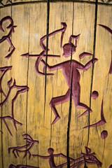 Petroglyphs on the tree