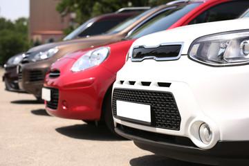 Foto op Canvas Snelle auto s Parked cars for sale