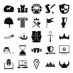 History and culturet simple icon set on background