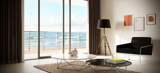 luxury minimalistic hotel room at the beach - schlichtes modernes Hotel Zimmer am Strand