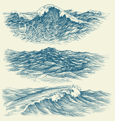 Sea and ocean waves