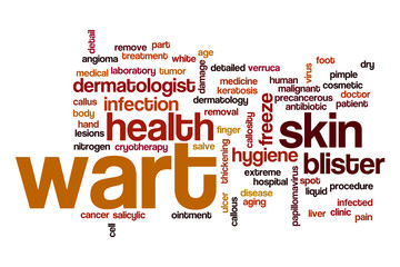 Wart word cloud concept