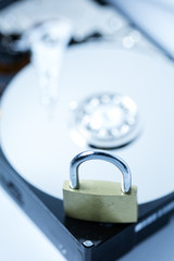 Fototapeta computer hard drive security